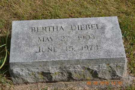 DIEBEL, BERTHA - Branch County, Michigan   BERTHA DIEBEL - Michigan Gravestone Photos
