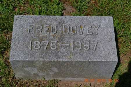 DOVEY, FRED - Branch County, Michigan | FRED DOVEY - Michigan Gravestone Photos