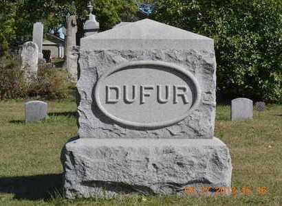DUFUR, FAMILY - Branch County, Michigan | FAMILY DUFUR - Michigan Gravestone Photos