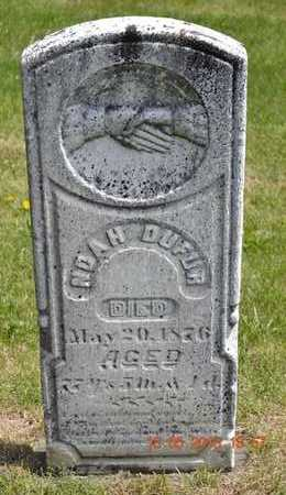 DUFUR, NOAH - Branch County, Michigan | NOAH DUFUR - Michigan Gravestone Photos