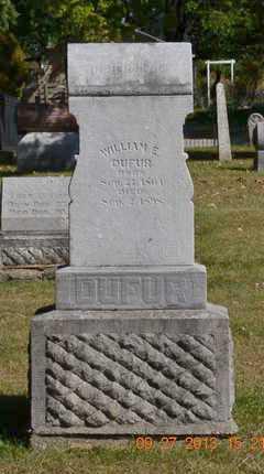 DUFUR, WILLIAM E. - Branch County, Michigan | WILLIAM E. DUFUR - Michigan Gravestone Photos