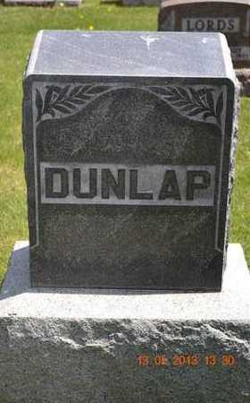 DUNLAP, FAMILY - Branch County, Michigan | FAMILY DUNLAP - Michigan Gravestone Photos