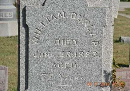 DUNLAP, WILLIAM - Branch County, Michigan   WILLIAM DUNLAP - Michigan Gravestone Photos