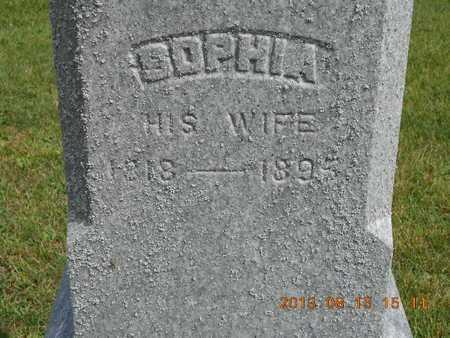 EARL, SOPHIA - Branch County, Michigan | SOPHIA EARL - Michigan Gravestone Photos