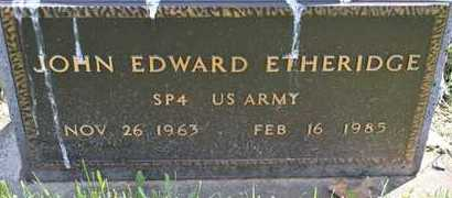 ETHERIDGE, JOHN EDWARD(MILITARY) - Branch County, Michigan | JOHN EDWARD(MILITARY) ETHERIDGE - Michigan Gravestone Photos