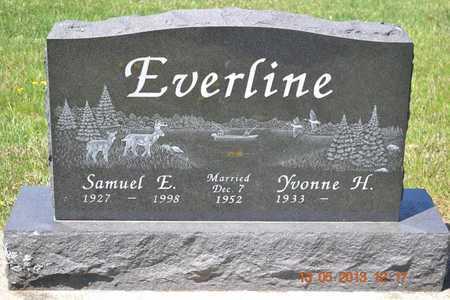EVERLINE, SAMUEL E. - Branch County, Michigan | SAMUEL E. EVERLINE - Michigan Gravestone Photos