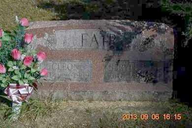 FAIR, CLEON - Branch County, Michigan   CLEON FAIR - Michigan Gravestone Photos