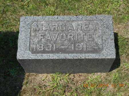 FAVORITE, MARGARET - Branch County, Michigan | MARGARET FAVORITE - Michigan Gravestone Photos
