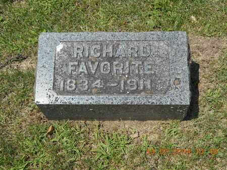 FAVORITE, RICHARD - Branch County, Michigan | RICHARD FAVORITE - Michigan Gravestone Photos