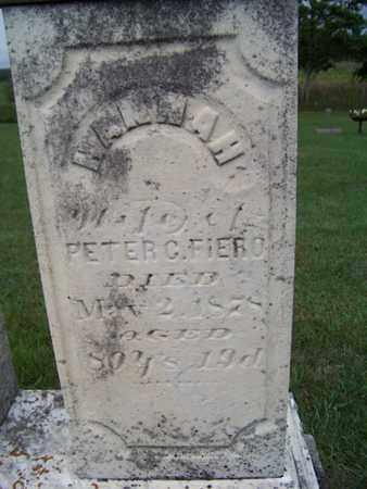 FIERO, HANNA - Branch County, Michigan | HANNA FIERO - Michigan Gravestone Photos