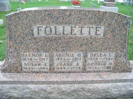 FOLLETTE, GEORGE - Branch County, Michigan | GEORGE FOLLETTE - Michigan Gravestone Photos