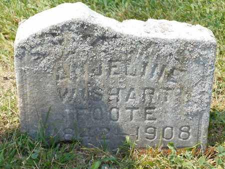 WISHART FOOTE, ANJELINE - Branch County, Michigan | ANJELINE WISHART FOOTE - Michigan Gravestone Photos