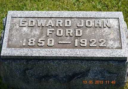 FORD, EDWARD JOHN - Branch County, Michigan | EDWARD JOHN FORD - Michigan Gravestone Photos