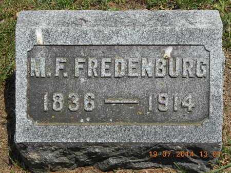 FREDENBURG, M.F. - Branch County, Michigan | M.F. FREDENBURG - Michigan Gravestone Photos