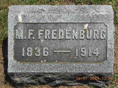 FREDENBURG, M.F. - Branch County, Michigan | M.F. FREDENBURG - Michigan Gravestone Photos