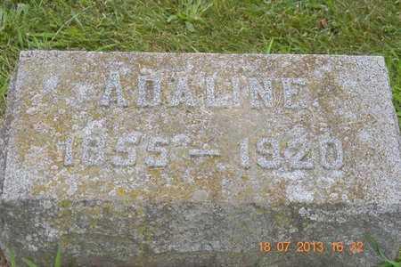 FREDERICK, ADALINE - Branch County, Michigan | ADALINE FREDERICK - Michigan Gravestone Photos