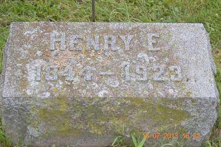 FREDERICK, HENRY E. - Branch County, Michigan | HENRY E. FREDERICK - Michigan Gravestone Photos