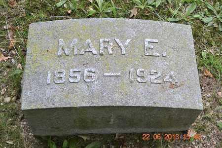 FREDERICK, MARY E. - Branch County, Michigan | MARY E. FREDERICK - Michigan Gravestone Photos