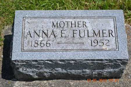 FULMER, ANNA E. - Branch County, Michigan | ANNA E. FULMER - Michigan Gravestone Photos