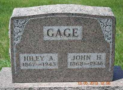 GAGE, HILEY A. - Branch County, Michigan | HILEY A. GAGE - Michigan Gravestone Photos