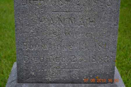 GIFFORD, HANNAH - Branch County, Michigan | HANNAH GIFFORD - Michigan Gravestone Photos
