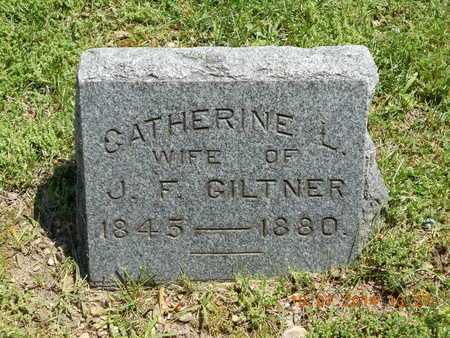 GILTNER, CATHERINE L. - Branch County, Michigan | CATHERINE L. GILTNER - Michigan Gravestone Photos