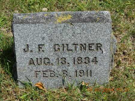 GILTNER, J.F. - Branch County, Michigan   J.F. GILTNER - Michigan Gravestone Photos