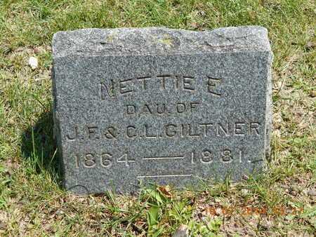 GILTNER, NETTIE E. - Branch County, Michigan   NETTIE E. GILTNER - Michigan Gravestone Photos