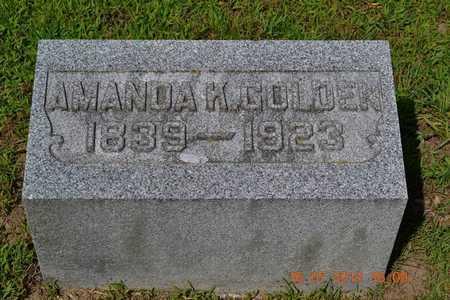 GOLDEN, AMANDA - Branch County, Michigan | AMANDA GOLDEN - Michigan Gravestone Photos