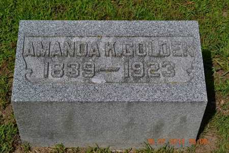 GOLDEN, AMANDA - Branch County, Michigan | AMANDA GOLDEN - Michigan Gravestone Photos