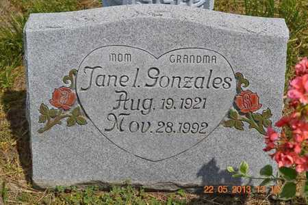 GONZALES, JANE L. - Branch County, Michigan   JANE L. GONZALES - Michigan Gravestone Photos