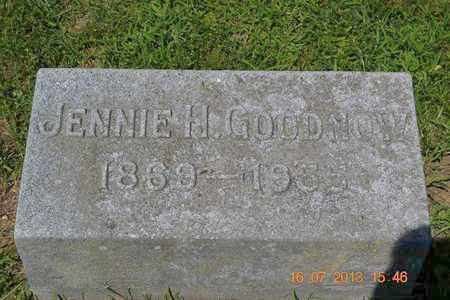GOODNOW, JENNIE H. - Branch County, Michigan | JENNIE H. GOODNOW - Michigan Gravestone Photos