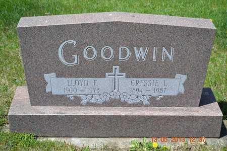 GOODWIN, CRESSIE L. - Branch County, Michigan | CRESSIE L. GOODWIN - Michigan Gravestone Photos