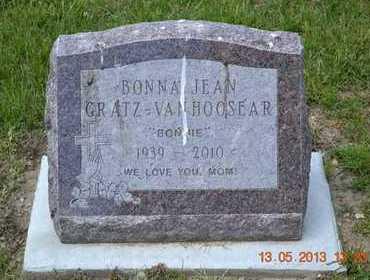 "GRATZ-VAN HOOSEAR, BONNA ""BONNIE"" JEAN - Branch County, Michigan   BONNA ""BONNIE"" JEAN GRATZ-VAN HOOSEAR - Michigan Gravestone Photos"