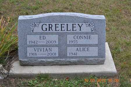 GREELEY, ALICE - Branch County, Michigan | ALICE GREELEY - Michigan Gravestone Photos