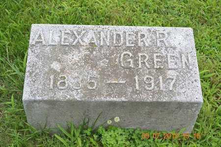 GREEN, ALEXANDER R. - Branch County, Michigan | ALEXANDER R. GREEN - Michigan Gravestone Photos