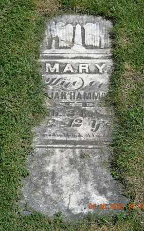 HAMMOND, MARY - Branch County, Michigan   MARY HAMMOND - Michigan Gravestone Photos