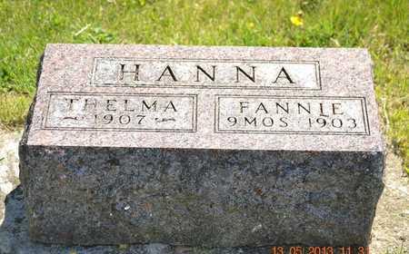 HANNA, THELMA - Branch County, Michigan | THELMA HANNA - Michigan Gravestone Photos