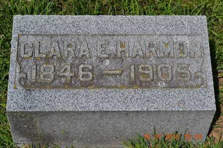 HARMON, CLARA - Branch County, Michigan   CLARA HARMON - Michigan Gravestone Photos