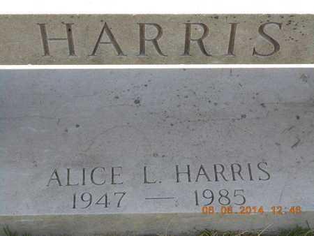 HARRIS, ALICE L. - Branch County, Michigan | ALICE L. HARRIS - Michigan Gravestone Photos