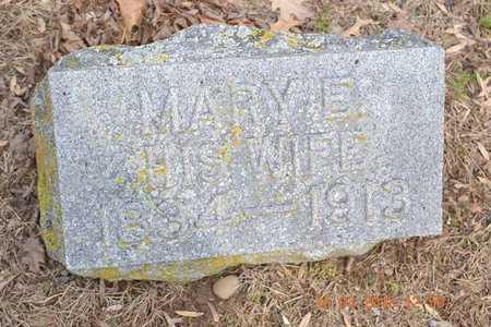HARRIS, MARY E. - Branch County, Michigan   MARY E. HARRIS - Michigan Gravestone Photos