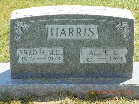 HARRIS, ALLIE L. - Branch County, Michigan | ALLIE L. HARRIS - Michigan Gravestone Photos