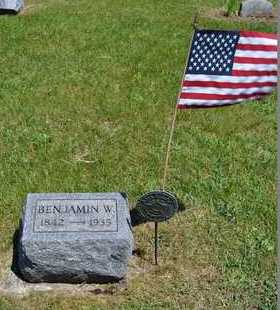 HARRISON, BENJAMIN W. - Branch County, Michigan | BENJAMIN W. HARRISON - Michigan Gravestone Photos