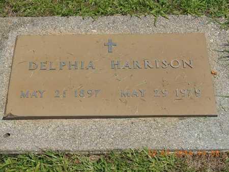 HARRISON, DELPHIA - Branch County, Michigan | DELPHIA HARRISON - Michigan Gravestone Photos