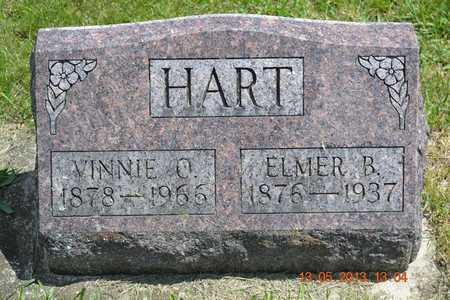 HART, VINNIE O. - Branch County, Michigan | VINNIE O. HART - Michigan Gravestone Photos
