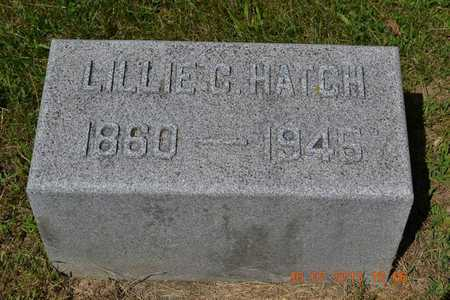 HATCH, LILLIE - Branch County, Michigan | LILLIE HATCH - Michigan Gravestone Photos