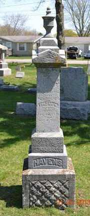 HAVENS, TIRZAH M. - Branch County, Michigan | TIRZAH M. HAVENS - Michigan Gravestone Photos