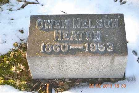 HEATON, OWEN NELSON - Branch County, Michigan | OWEN NELSON HEATON - Michigan Gravestone Photos