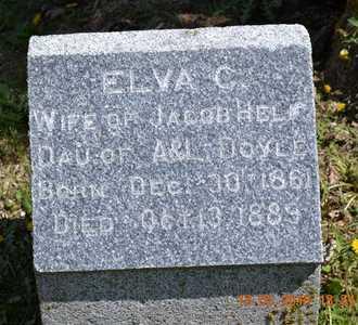HELF, ELVA C. - Branch County, Michigan | ELVA C. HELF - Michigan Gravestone Photos