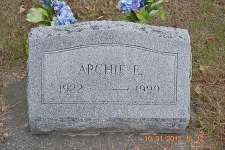 HIMEBAUGH, ARCHIE E. - Branch County, Michigan   ARCHIE E. HIMEBAUGH - Michigan Gravestone Photos